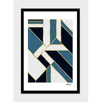 Geometric And Golden Art V Frame