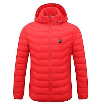 Jodimitty Mens Women Heated Outdoor Parka Coat Usb Electric Battery Heating