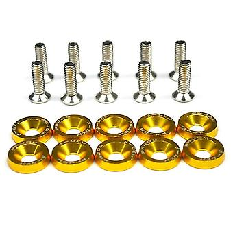 M6 Jdm Car Modified Hex Fasteners Fender Washer Bumper Engine Concave Screws