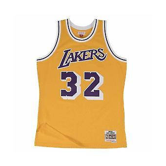 Mitchell & Ness Nba Swingman Jersey 20 Los Angeles Lakers 198485 Magic Johnson SMJYGS18175LALLTGD84EJH basketball all year men t-shirt