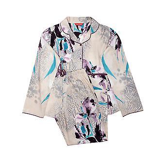 Minijammies Gabriella 5678 Girl's Beige Animal Print Cotton Pyjama Set