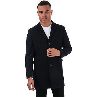 Men's Ben Sherman 3 Button Crombie Mantel in blau