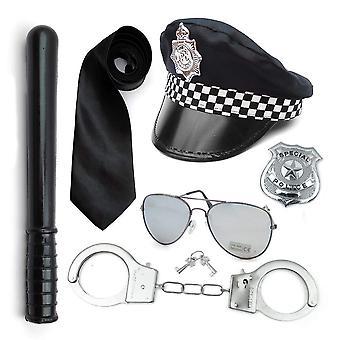 Χαρτί ομπρέλα αστυνομία κοστούμι έξι αξεσουάρ που