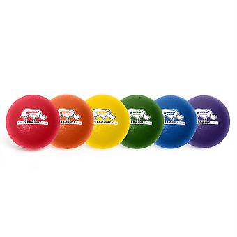 Rhino Skin 6-inch Low Bounce Dodgeball Set, Surtido de Colores, Conjunto de 6