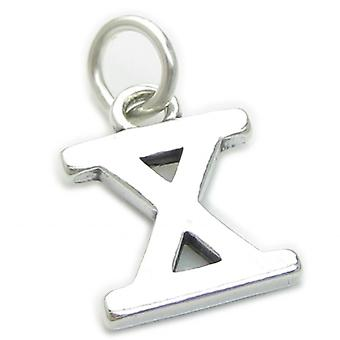 Roman Numeral Number 10 Sterling Silver Charm .925 X1 X Numerals Charms - 4298