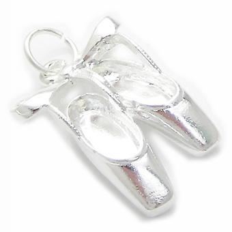 BallettSchuhe Sterling Silber Charm .925 X 1 Ballerina Schuh Charms - 4418
