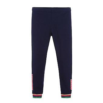 Billieblush tytöt laivastonsininen raidallinen kalvosinnaru leggingsit u14392