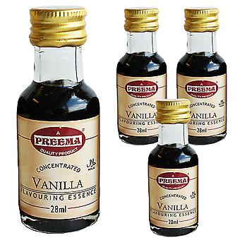 4 x 28ml Preema Vanilla Essence Cuisson Aroma Flavour Concentrated Cakes Cookies