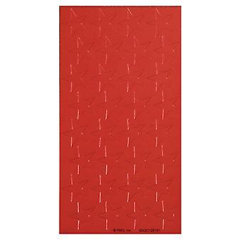 """1/2"""" Red (250) Presto-Stick Foil Star Stickers"""