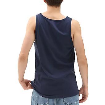 Vans Mens Print Box Casual Scoop Neck Summer Tank Vest Top Tee - Dress Blue