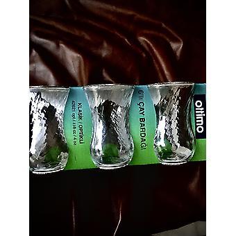 Set von 6 türkischen Teegläser, türkische Teetasse, ordentlich E-Glas