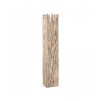 Driftwood Lámpara De Pie De Madera 2 Bombillas