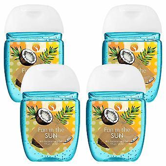 HandiGel Pocket Size Hand Sanitizers Antibacterial Gel, 29ml-Fun in the Sun, 4pk