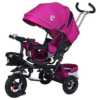 Children's Tricycle, Folding, Rotating Seat And Lying, Baby Stroller, Umbrella