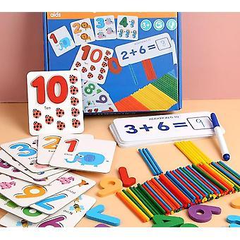 Montessori Matemáticas Pegatina de madera educativa