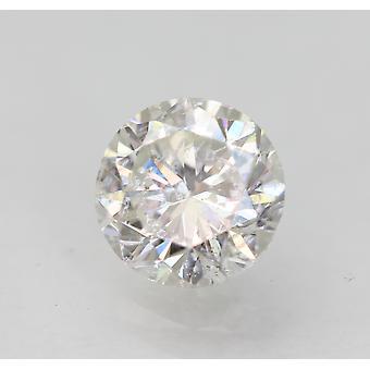 Sertifioitu 0,73 karat F SI1 pyöreä brilliant parannettu luonnon timantti 5.54mm 3VG
