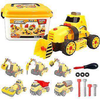 Dreamon Take Apart Toy STEM Construction Trucks Assemble Toy Kit 7 in 1 DIY Truck Toys