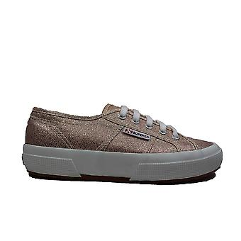 Superga Lamew Rose Platinum Jersey Womens Lace Up Casual Shoes
