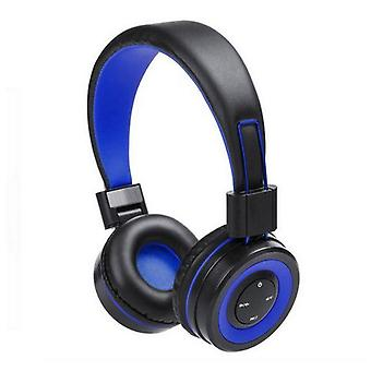 Bluetooth headphones with integrated panel blue