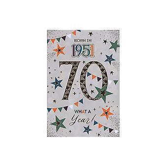 ICG Ltd 2021 Male 70 Year You Were Born Birthday Card