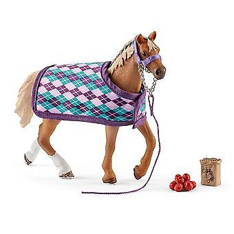 Schleich 42360 - cheval pur-sang anglais de Club avec couverture