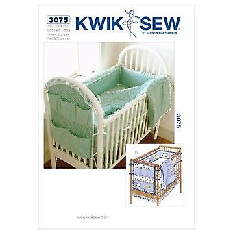 Kwik Sew Sewing Patterns 3075 Baby Infant Crib Comforter Bumper One Size