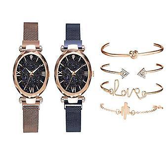 Luxury Women Watches, Magnetic Starry Sky Female Clock, Quartz Wristwatch