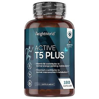 Active T5 Plus - 180 Capsules - High Strength Thermogenic Keto Supplement - Natural Diet Pills