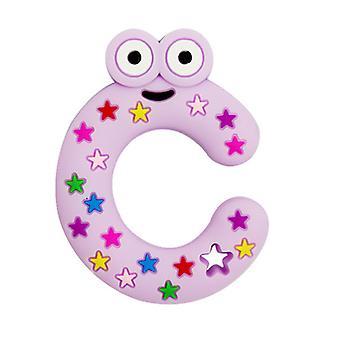 Silikon ABC form tenner For småbarn, baby molar pinne leketøy