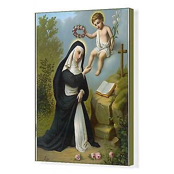 St Rosa De Lima. Box Canvas Afdrukken. SANTA ROSA DI LIMA geeft een lichtgevende gloed weer - een fenomeen.