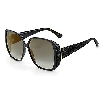 Jimmy Choo CLOE/S 807/FQ Black/Grey Gradient Gold Mirror Sunglasses