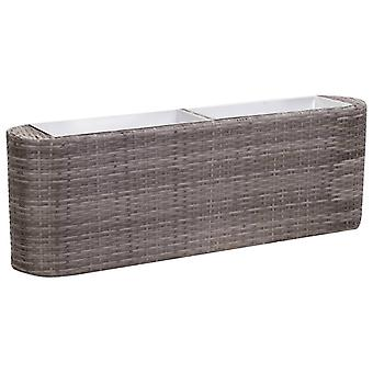 Garden Bed 120x24x40cm Poly Rattan Grey