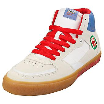 Etnies Schroef Vulc Mid X Rad Mens Fashion Trainers in Witte Gom
