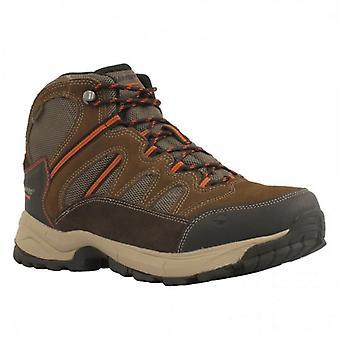 Hi-Tec Bandera Lite Mens Suede Hiking Boots Chocolate/brown/orange