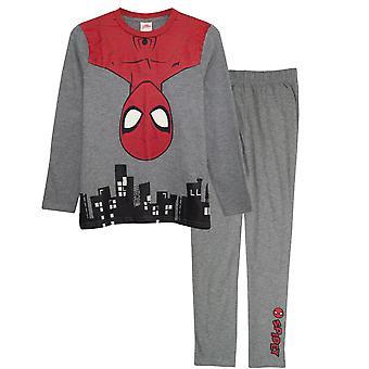 Spider-Man pojkar hänger i staden Pyjamas set