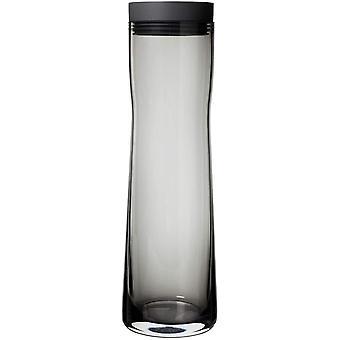 FengChun Splash Wasserkaraffe magnet - Glaskaraffe mit Deckel aus poliertem Edelstahl und Silikon