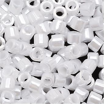 Miyuki Delica Siemenhelmet, 10/0 Koko, 8 Grammaa, Läpinäkymätön Valkoinen helmi DBM0201