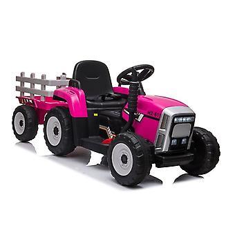 Elektrisch lenkbare Zugmaschine - pink - mit Anhänger