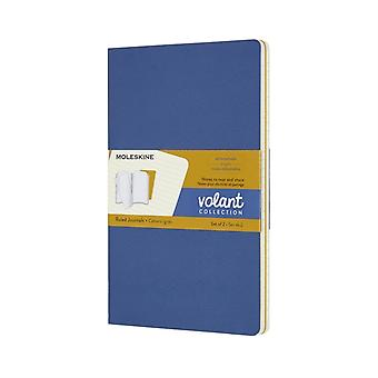 Volant Journals Large Ruled Forget Me Niet Blauw Amber Geel