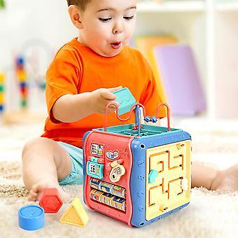 Joc de puzzle copii activitate cube formă blocuri practice atractive elegant multifuncționale de învățare