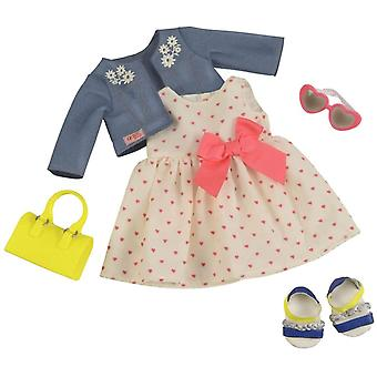 BD30246 Deluxe HeartPrint Kleid Outfit