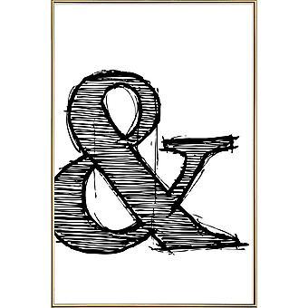 JUNIQE Print - Ampersand Poster 1 - Symbols Poster in Black & White