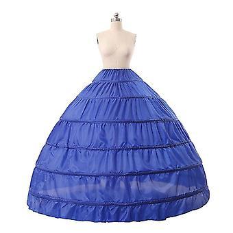 6 Hoops No Yarn Large Skirt Bride Bridal Wedding Dress Support Petticoat