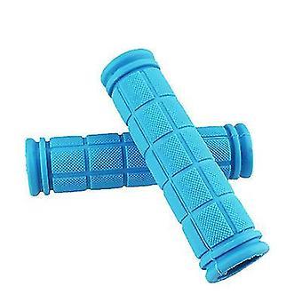 Blue non slip soft rubber mountain bicycle handlebar x2468