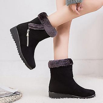 Winter Women Solid Flat Snow Boots