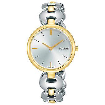 Pulsar PM2264X1 Damas Vestido Tono Pulsera Silver Dial 50M Reloj