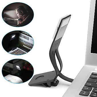 Adjustable Bendable With Clip Design Led, Night Reading Lamp Light