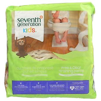 Seventh Generation Free and Clear Training Pants, 25 COUNT(case of 4)
