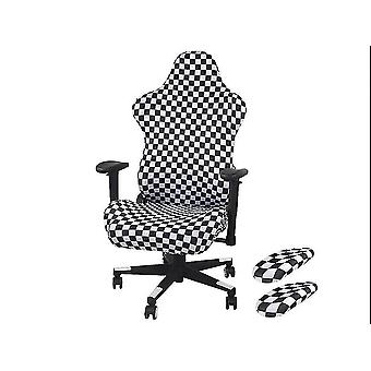 White and black arm cover 27x7cm gaming chair cover back cover/cushion cover/armrest homi3616