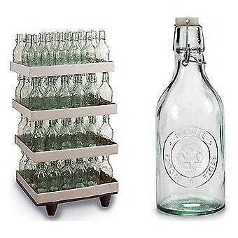 Pullo kierrätetty lasi (9,5 x 26,5 x 9,5 cm)